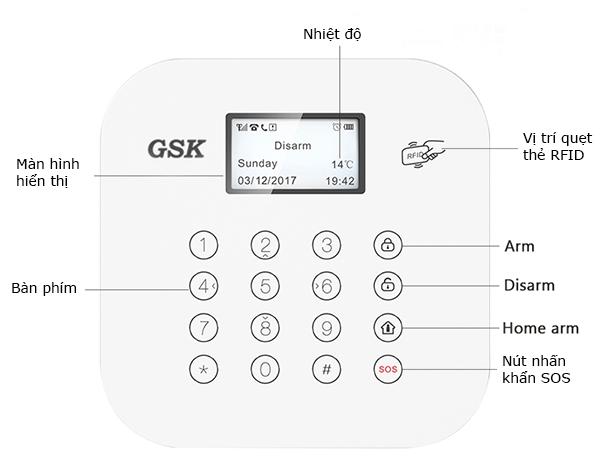 chi tiết bàn phím gsk a7kp